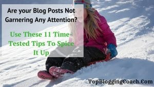 Are your Blog Posts Not Garnering Any Attention? Here's How To Spice It Up