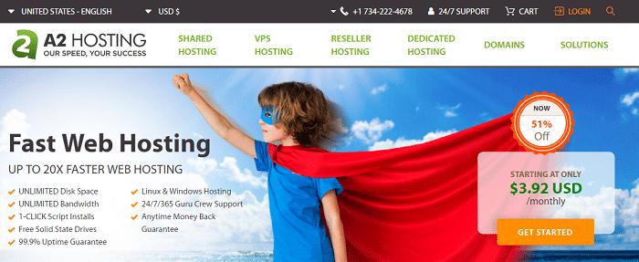 a 2 hosting